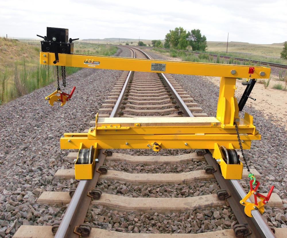 Elemento trasportatore con portalino sostituizione rotaie ETM