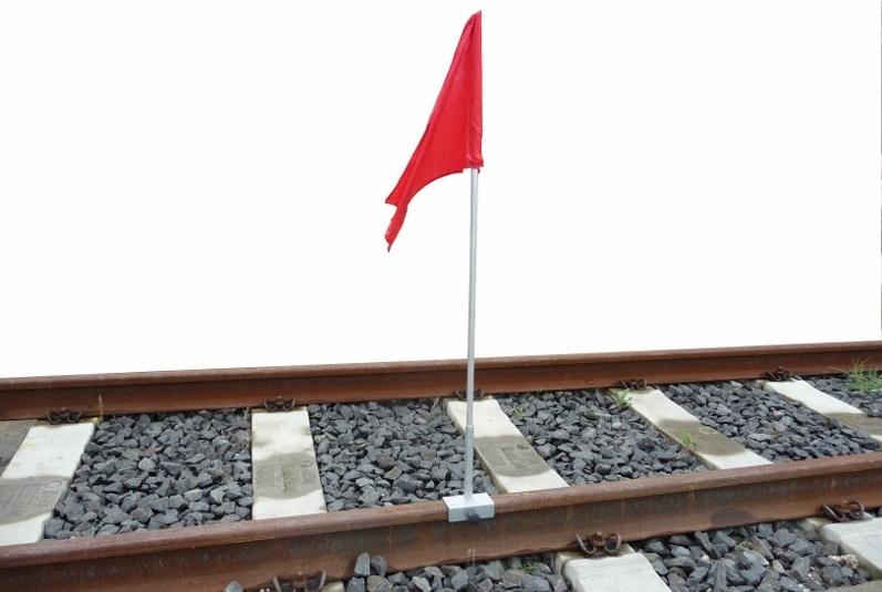 Bandiera con manico in alluminio